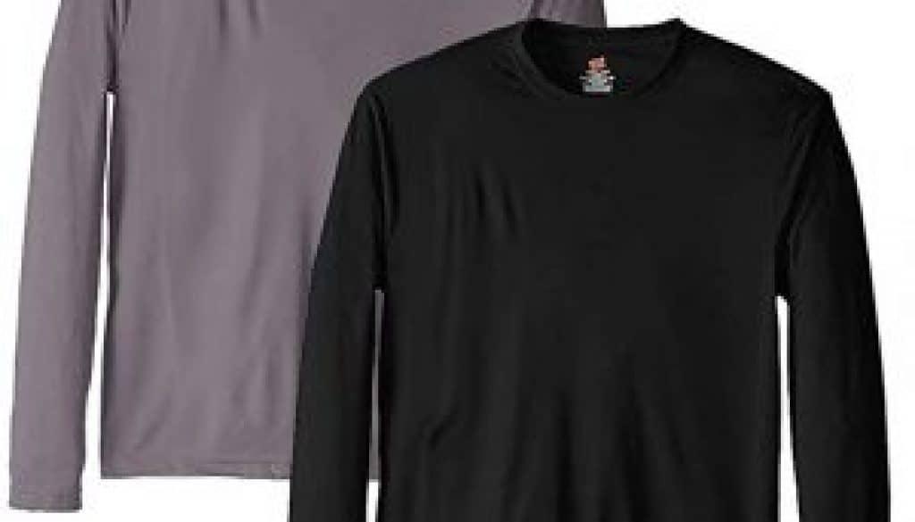 Hanes Men's Long Sleeve Cool Dri T-Shirt UPF 50+