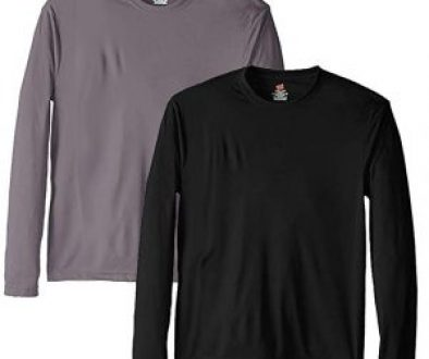 Hanes Men's Long Sleeve Cool Dri T-Shirt UPF 50+